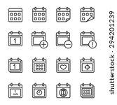 calendar icon vector eps10. | Shutterstock .eps vector #294201239