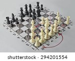 Chess. White Board With Chess...