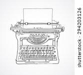 hand sketched vintage... | Shutterstock .eps vector #294203126