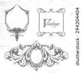 vector set of design elements.... | Shutterstock .eps vector #294204404