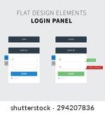 style flat ui kit design login...