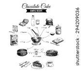 vector hand drawn chocolate... | Shutterstock .eps vector #294209036