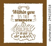 encourage quotes digital design ...   Shutterstock .eps vector #294210518