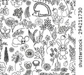 seamless hand drawn pattern | Shutterstock . vector #294211730