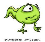 surprised cartoon frog character | Shutterstock .eps vector #294211898