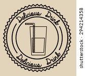 drinks digital design  vector... | Shutterstock .eps vector #294214358