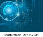 abstract blue digital... | Shutterstock .eps vector #294217334