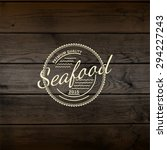 seafood badges logos and labels ... | Shutterstock . vector #294227243