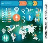flat style design human... | Shutterstock .eps vector #294228260