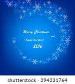 beautiful christmas blue... | Shutterstock .eps vector #294231764