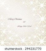 beautiful christmas beige... | Shutterstock .eps vector #294231770