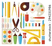 back to school objects and... | Shutterstock .eps vector #294231986