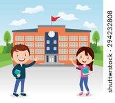 go to college. vector... | Shutterstock .eps vector #294232808