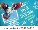 web design web development... | Shutterstock . vector #294234410