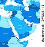 middle east and asia map  ... | Shutterstock .eps vector #294235448