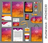 corporate identity template set.... | Shutterstock .eps vector #294240230