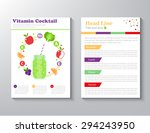 brochure flyer design vector... | Shutterstock .eps vector #294243950