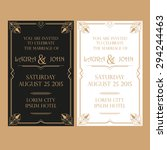 save the date   wedding... | Shutterstock .eps vector #294244463