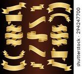 golden ribbons set. vector... | Shutterstock .eps vector #294247700
