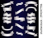 silver ribbons set. vector... | Shutterstock .eps vector #294247706
