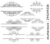 vector set of calligraphic... | Shutterstock .eps vector #294249338