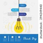 business concept   infographics ... | Shutterstock .eps vector #294249440