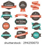 thirteen banners on a plain... | Shutterstock .eps vector #294250073