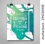 motivational poster square... | Shutterstock .eps vector #294250400