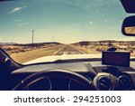 Inside Car - stock photo