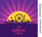 the carnival funfair and... | Shutterstock .eps vector #294254150