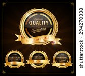 set of label with gold elements ... | Shutterstock .eps vector #294270338