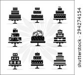 birthday and wedding cakes... | Shutterstock .eps vector #294274154