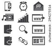 website icon set vector... | Shutterstock .eps vector #294275516
