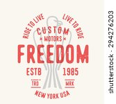 vintage retro t shirt apparel... | Shutterstock .eps vector #294276203