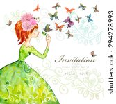 Fashion Girl With Butterflies....