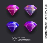 collection icons diamond violet ...