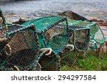Lobster Pots Stacked Upside...