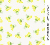 seamless pattern with chamomile ...   Shutterstock . vector #294304424