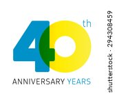 40 th anniversary numbers. 40s  ... | Shutterstock .eps vector #294308459