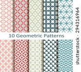 set of ten geometric patterns | Shutterstock .eps vector #294316964