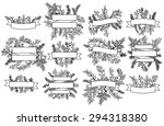 vector collection of vintage... | Shutterstock .eps vector #294318380