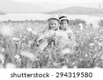 Two Cute Little Girls Hugging...