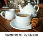 Breakfast tea - stock photo