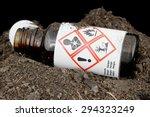 Bottle of hazardous substances...