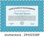 certificate. customizable  easy ... | Shutterstock .eps vector #294325289