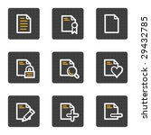 document web icons set 2  grey... | Shutterstock .eps vector #29432785