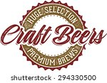 vintage style craft beer sign | Shutterstock .eps vector #294330500