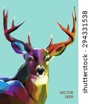 Colorful Deer Illustration. ...
