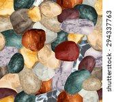sea stones seamless background   Shutterstock .eps vector #294337763