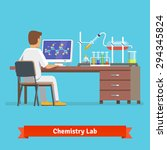 medical chemistry lab worker... | Shutterstock .eps vector #294345824